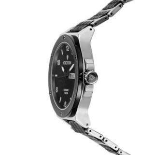 Croton Men's Stainless Steel & Ceramic Watch