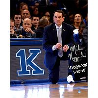 Steiner Sports Duke Blue Devils Mike Krzyzewski 1,00th Win Signed 11