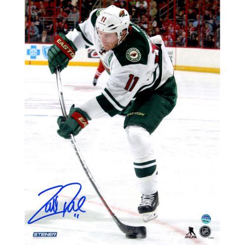 Steiner Sports Minnesota Wild Zach Parise Wild Stick Flex 8 x 10 Signed Photo