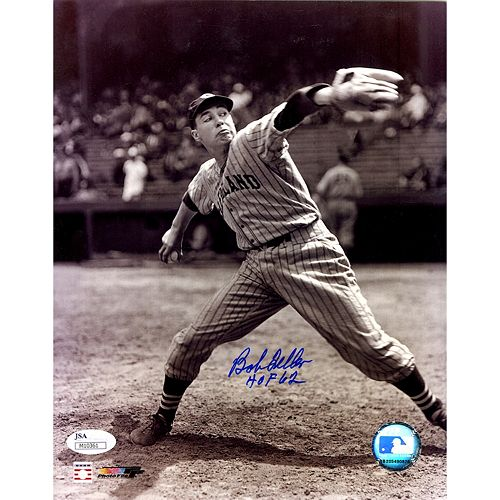 Steiner Sports Cleveland Indians Bob Feller Signed 8 x 10 Photo