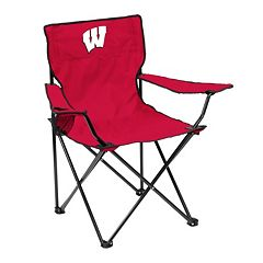Logo Brand Wisconsin Badgers Portable Folding Chair