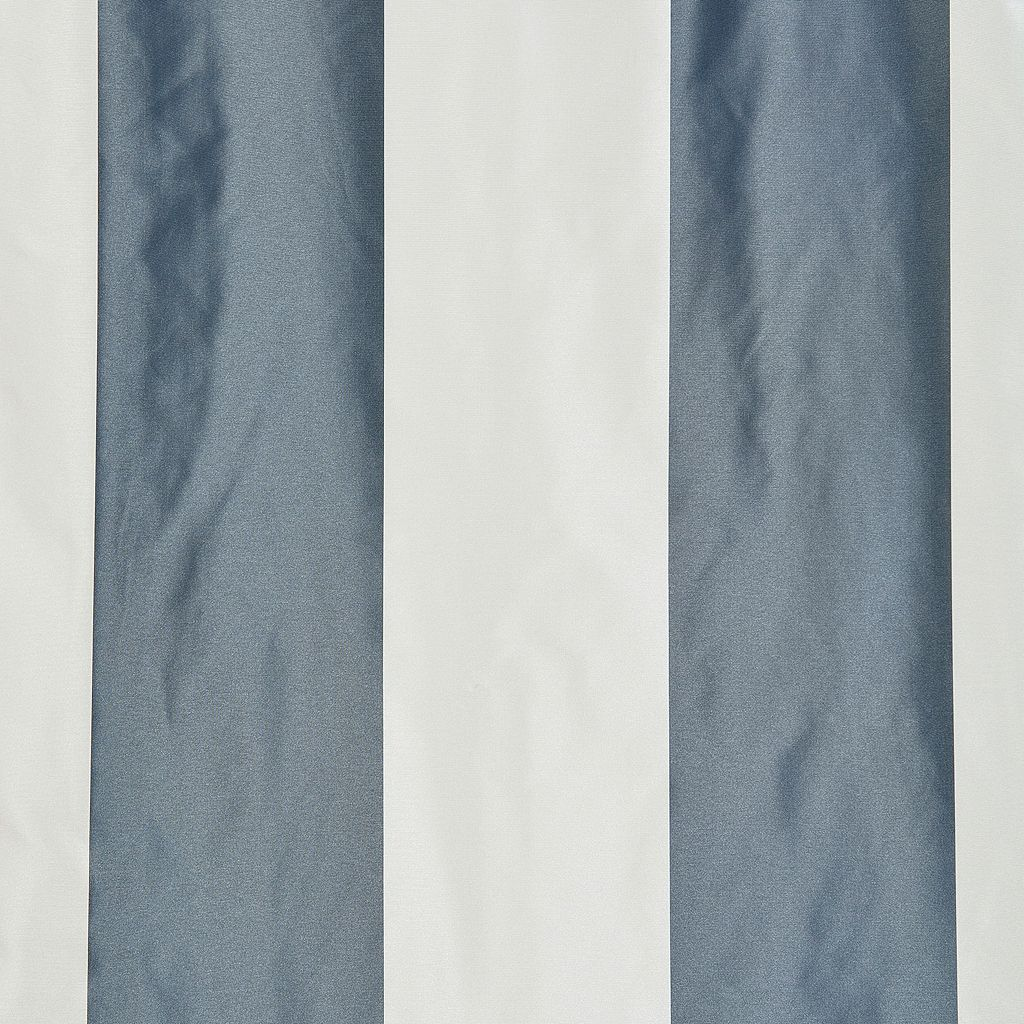 EFF Blackout Faux Silk Taffeta Stripe Curtain