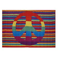 Fun Rugs Fun Time Groovy Peace Rug