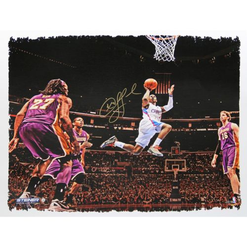 Steiner Sports Los Angeles Clippers Chris Paul Overtime Goal Signed Canvas Wall Art