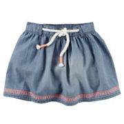 Girls 4-8 Carter's Embroidered Denim Skirt