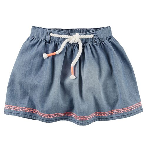 Girls 4-8 Carter's Embroidered Denim Skirt