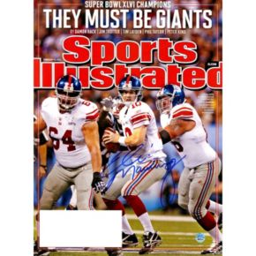 Steiner Sports New York Giants Eli Manning They Must Be Giants Signed Sports Illustrated Cover Photo