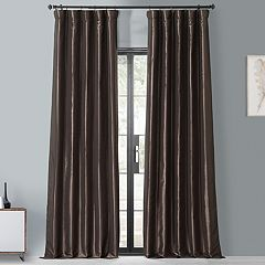 EFF Blackout 1-Panel Faux Silk Taffeta Window Curtain