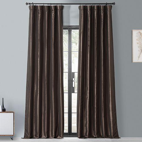 EFF Blackout 1-Panel Faux Silk Taffeta Window Curtain