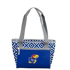 Logo Brand Kansas Jayhawks 16-Can Diamond Cooler Tote