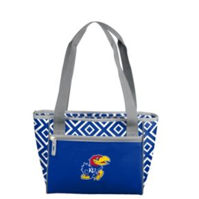 Logo Brand Kansas Jayhawks 16-Can Diamond Cooler Tote
