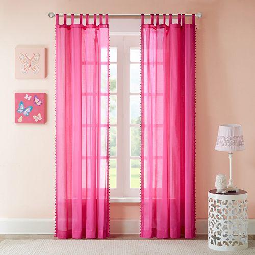Light Pink Curtains Target: Mi Zone Sophie Sheer Window Curtain