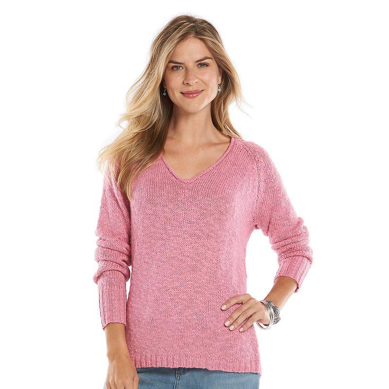 Petite Chaps Marled Sweater