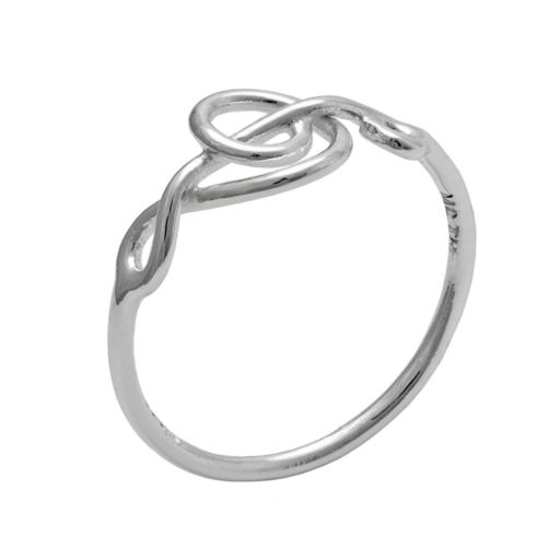 Itsy Bitsy Sterling Silver Sideways Treble Clef Pinky Ring
