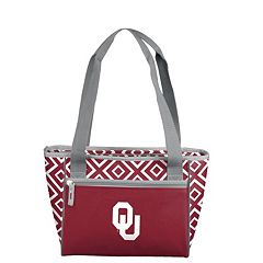 Logo Brand Oklahoma Sooners 16-Can Diamond Cooler Tote