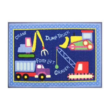 Fun Rugs Olive Kids Under Construction Rug