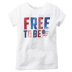 Girls 4-8 Carter's 'Free To Be' Glitter Tee