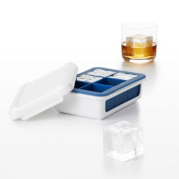 OXO Good Grips Large Cube Covered Silicone Ice Cube Tray