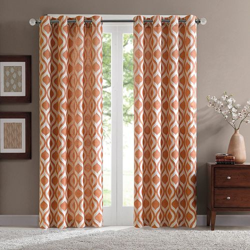 Madison Park 1-Panel Bergamo Room Darkening Window Curtain