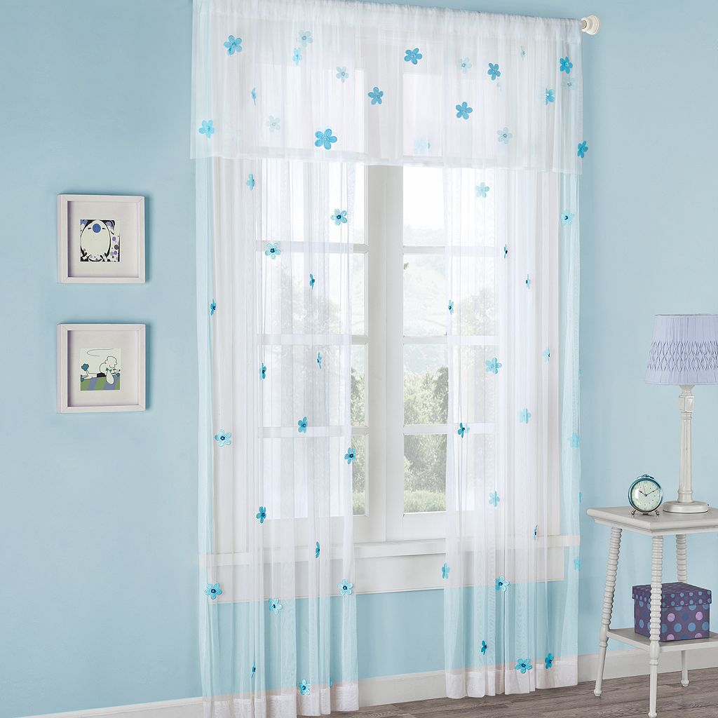 Mi Zone Lily Floral Sheer Curtain