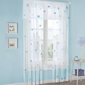Mi Zone 1-Panel Lily Floral Sheer Window Curtain