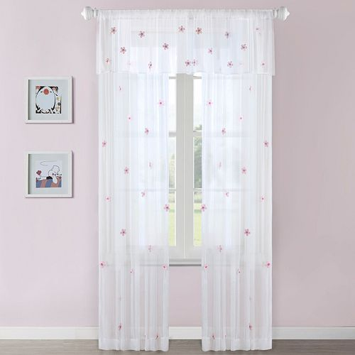Mi Zone Lily Floral Sheer Window Curtain