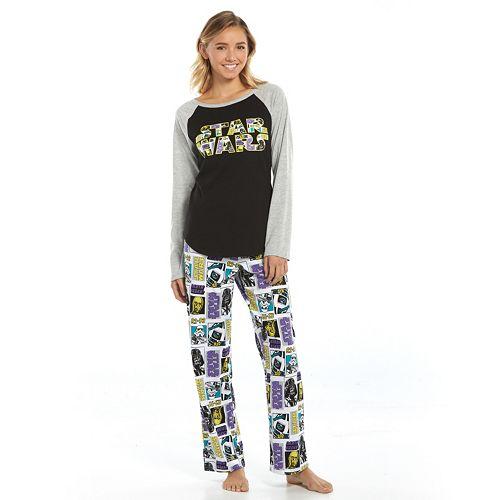 Star Wars Pajamas: Knit Sleep Top & Pants Pajama Set - Juniors