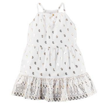 Girls 4-8 Carter's Foil Paisley Printed Dress