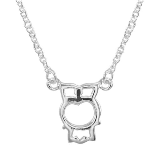 Itsy Bitsy Sterling Silver Owl Link Necklace