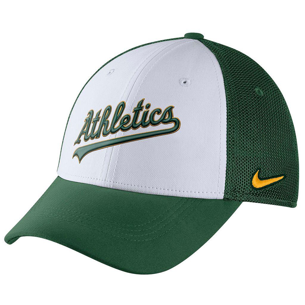 Adult Nike Oakland Athletics Mesh Dri-FIT Flex Cap