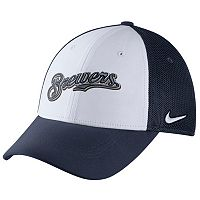 Adult Nike Milwaukee Brewers Mesh Dri-FIT Flex Cap