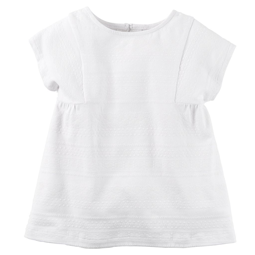 Girls 4-8 Carter's Textured Lace Tee