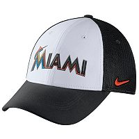 Adult Nike Miami Marlins Mesh Dri-FIT Flex Cap