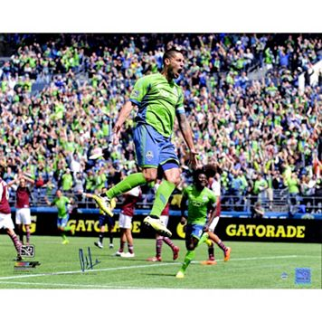 Steiner Sports Seattle Sounders Clint Dempsey Celebration Signed 16