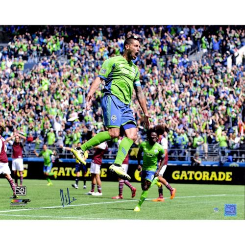 Steiner Sports Seattle Sounders Clint Dempsey Celebration Signed 16 x 20 Photo