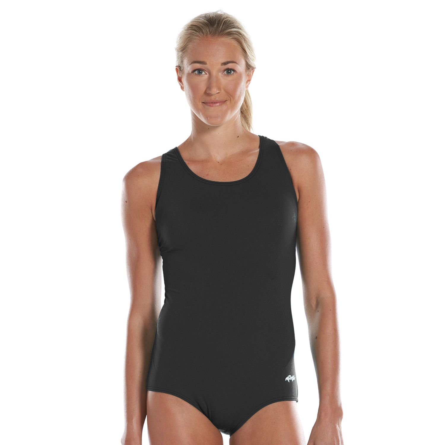 Womens Dolfin Aquashape Conservative One-Piece Lap Swimsuit