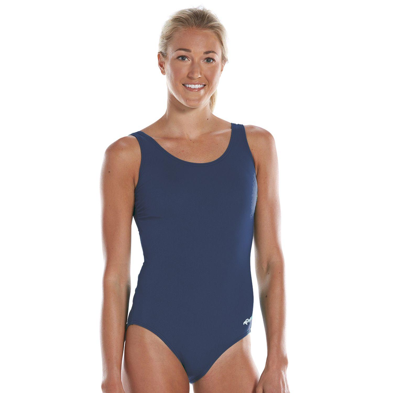 Womens Dolfin Aquashape Moderate Scoop Back One-Piece Swimsuit