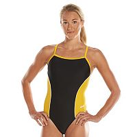Women's Dolfin Team Colorblock V-2 Back Competitive One-Piece Swimsuit