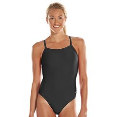Women's Dolfin Team Solid V-2 Back Competitive One-Piece Swimsuit