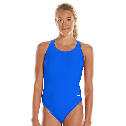 Women's Dolfin Team Solid High Performance Competitive One-Piece Swimsuit