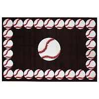 Fun Rugs Fun Time Baseball Time Rug