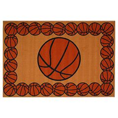 Fun Rugs Fun Time Basketball Time Rug