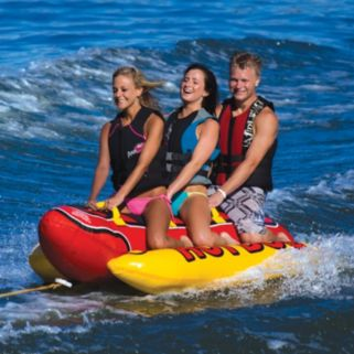 Airhead Hot Dog Inflatable Triple Rider Towable Tube