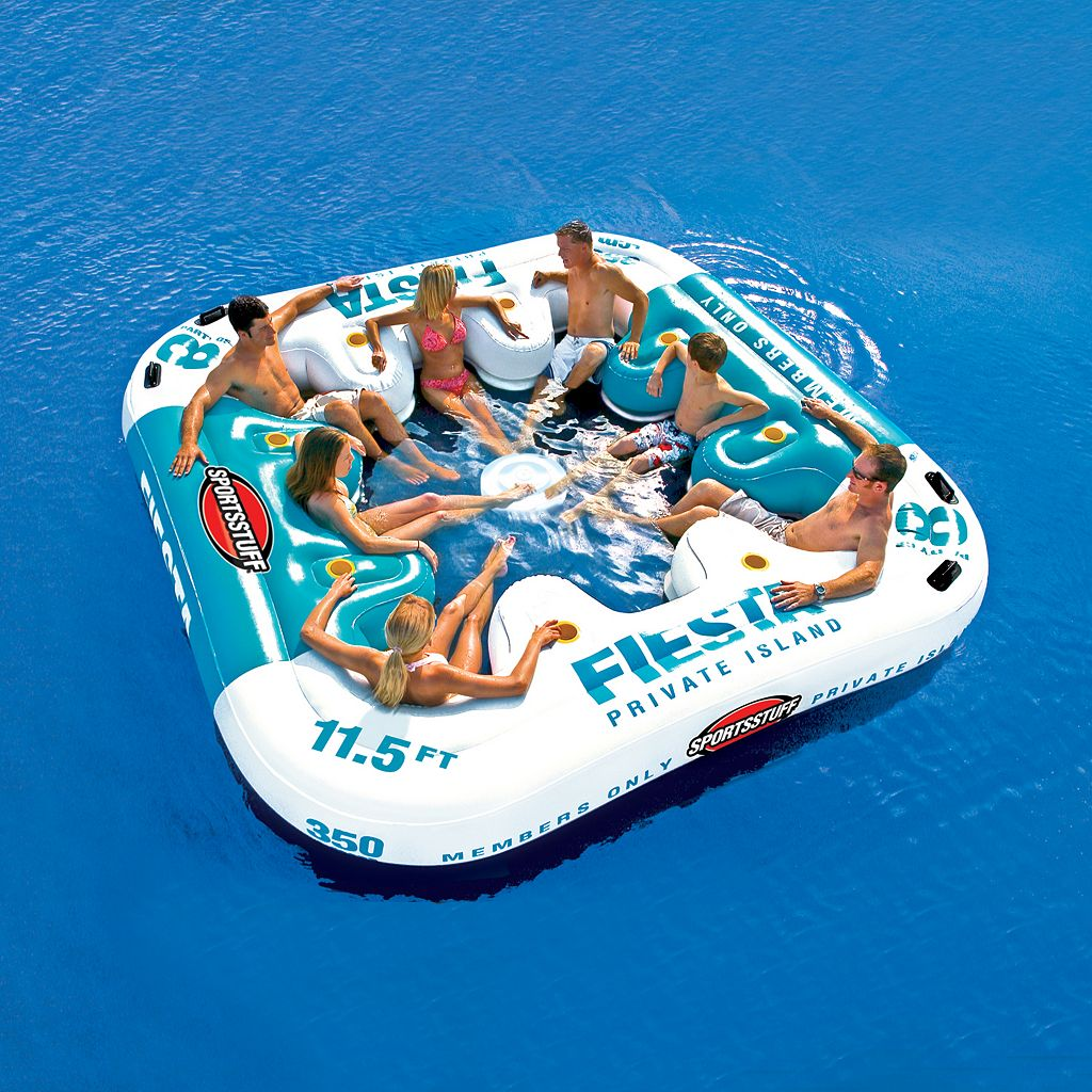 Sportsstuff Fiesta Island Inflatable Eight-Person Lounge