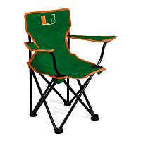 Toddler Logo Brand Miami Hurricanes Portable Folding Chair