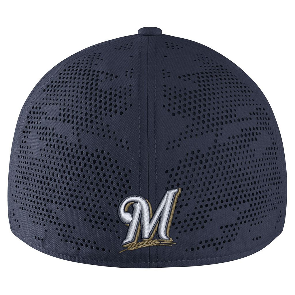 Adult Nike Milwaukee Brewers Vapor Classic Stretch-Fit Cap