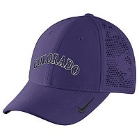Adult Nike Colorado Rockies Vapor Classic Stretch-Fit Cap