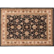 KHL Rugs Traditional Black Floral Rug