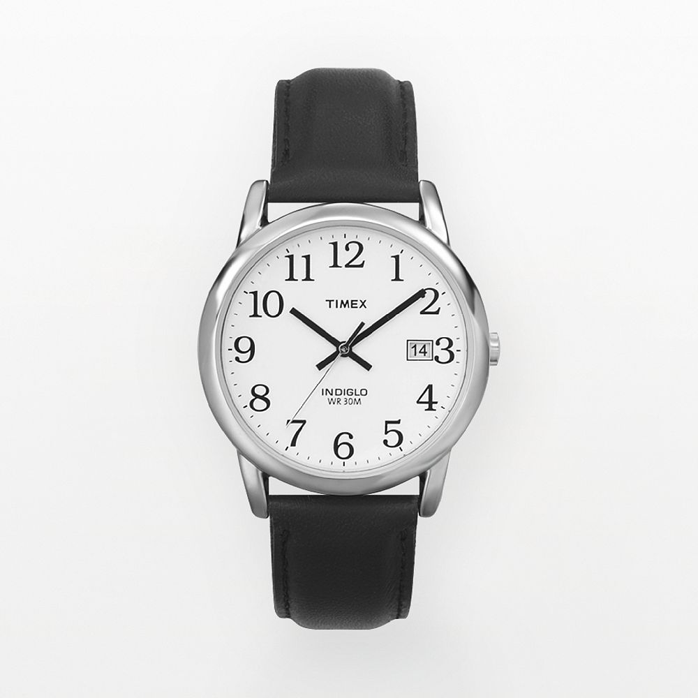 Timex Men's Easy Reader Leather Watch - T2H2819J