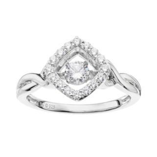 Floating DiamonLuxe5/8 Carat T.W. Simulated Diamond Sterling Silver Square Ring
